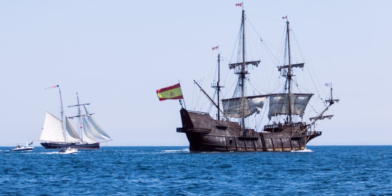 Replica of Spanish Galleon Tall Ship in Halifax Harbour