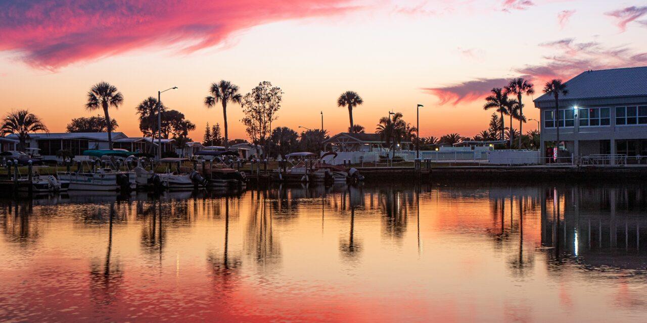 Photogenic Skyline at Dusk in North Port, Florida