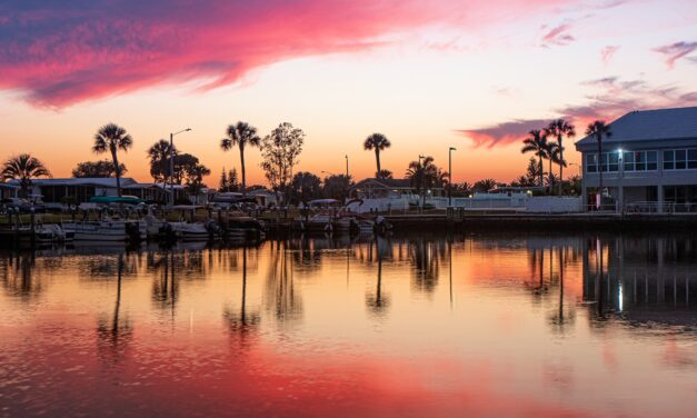 Photogenic Skyline at Dusk in North Port, Florida
