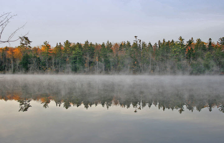 Mist Rising Over First Lake